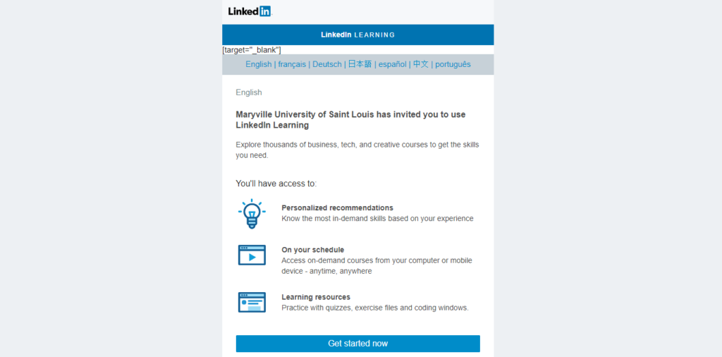 Create a LinkedIn Learning Account | Learning Design and