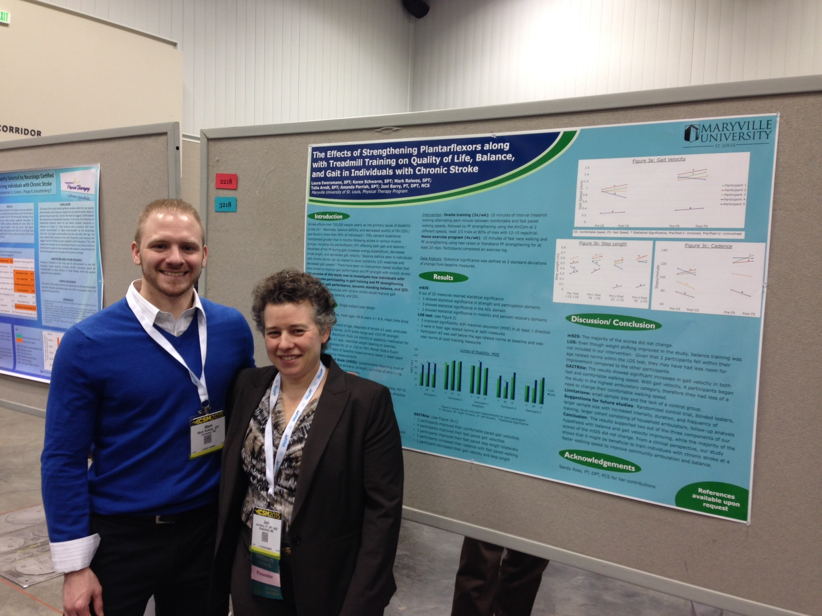 Mark Rolwes, DPT (Class of 2014) and Joni Barry, PT, DPT, NCS